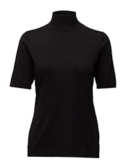 Lima roll neck knit - BLACK