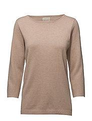 Irene knit pullover - NUDE SMOKE MELANGE