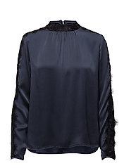 Inge blouse - BLACK IRIS