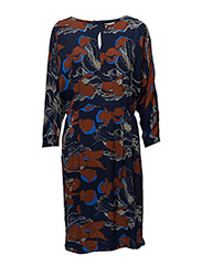 Audrey dress - BLACK IRIS FLORAL PRINT