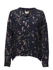 Roxie blouse - BLACK IRIS