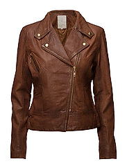 Roxanne jacket - COGNAC