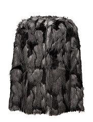Beverly fur coat - BLACK