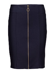 Karin zip skirt - BLACK IRIS