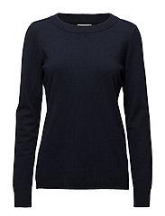 Rilla pullover - BLACK IRIS SOLID