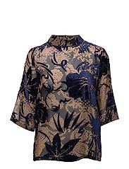 Nikita flock blouse - FLOWER BURN OUT
