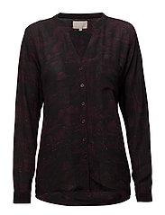 Lilliana shirt - SHADOW PRINT WINERED