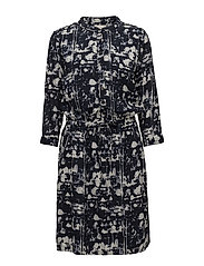 Lilliana dress - SHADOW PRINT BLACK IRIS