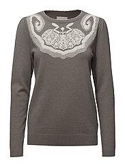 Lennox pullover - FROST GREY MELANGE