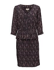 Harlow dress - CONFETTI PRINT BLACK IRIS