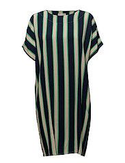 Ebba dress - GREEN STRIPED