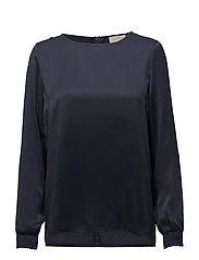 Ea ls round neck blouse - BLACK IRIS