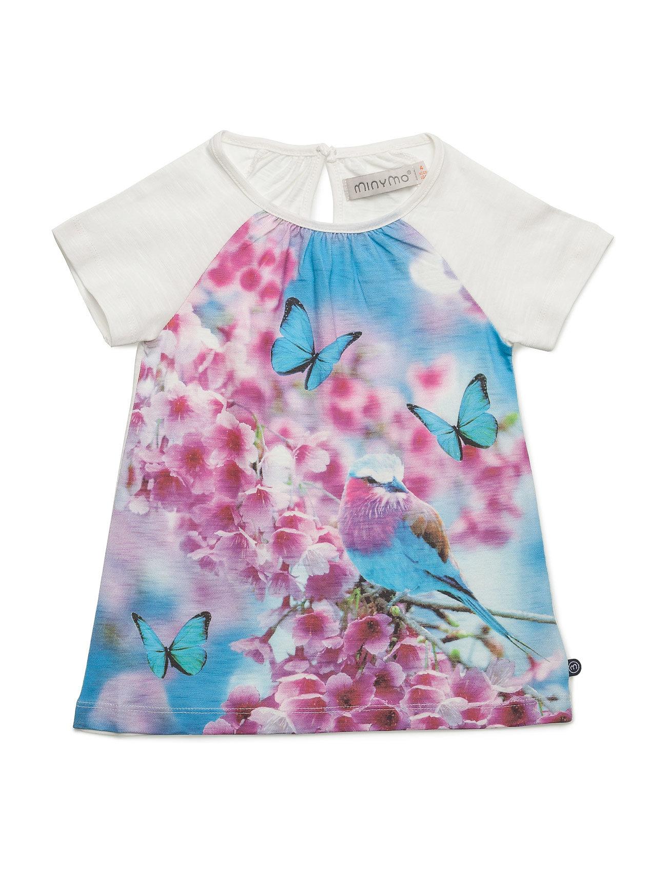Kylie 76 -T-Shirt Ss W. Photo Minymo Kortærmede t-shirts til Børn i hvid