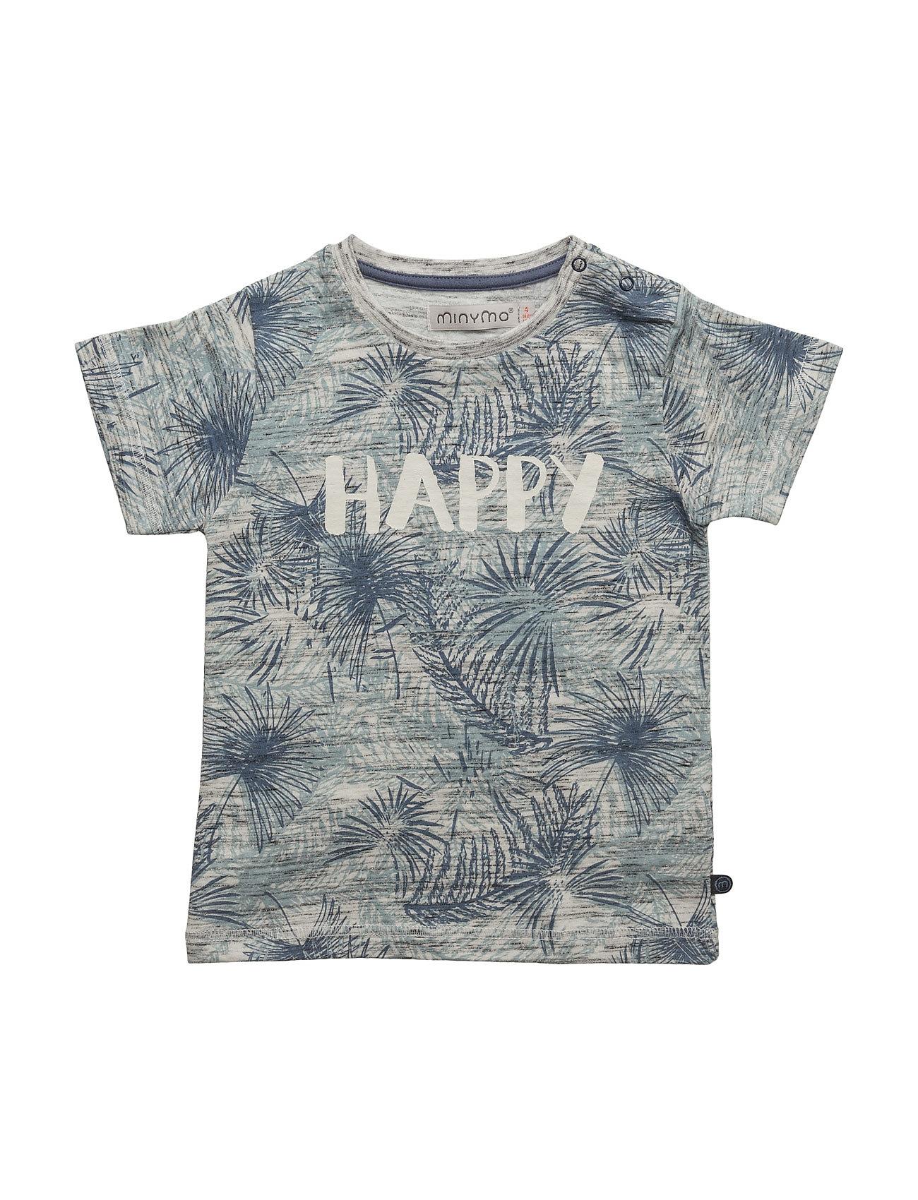 Kato 73-T-Shirt Ss W. Palm Aop Minymo Kortærmede t-shirts til Børn i