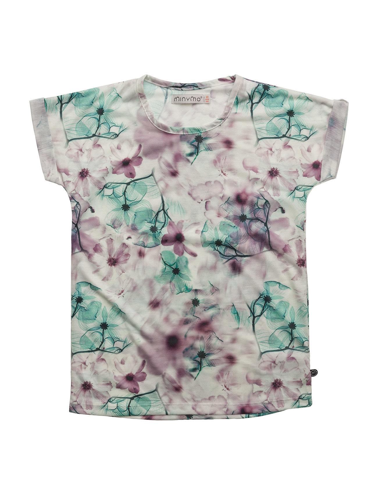 76 -T-Shirt Ss W. Aop Minymo Kortærmede t-shirts til Børn i hvid
