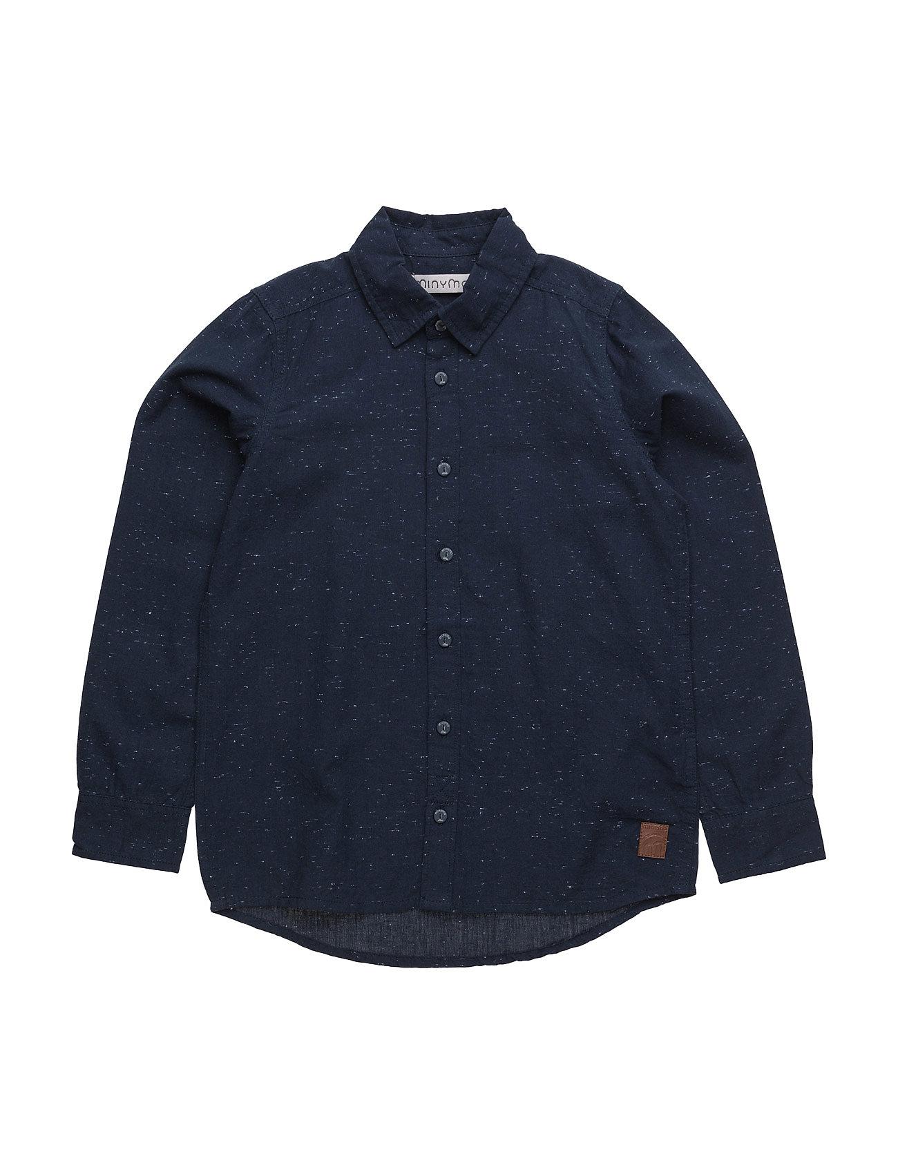 43 - Shirt Ls Melange Minymo  til Børn i Mørk Navy