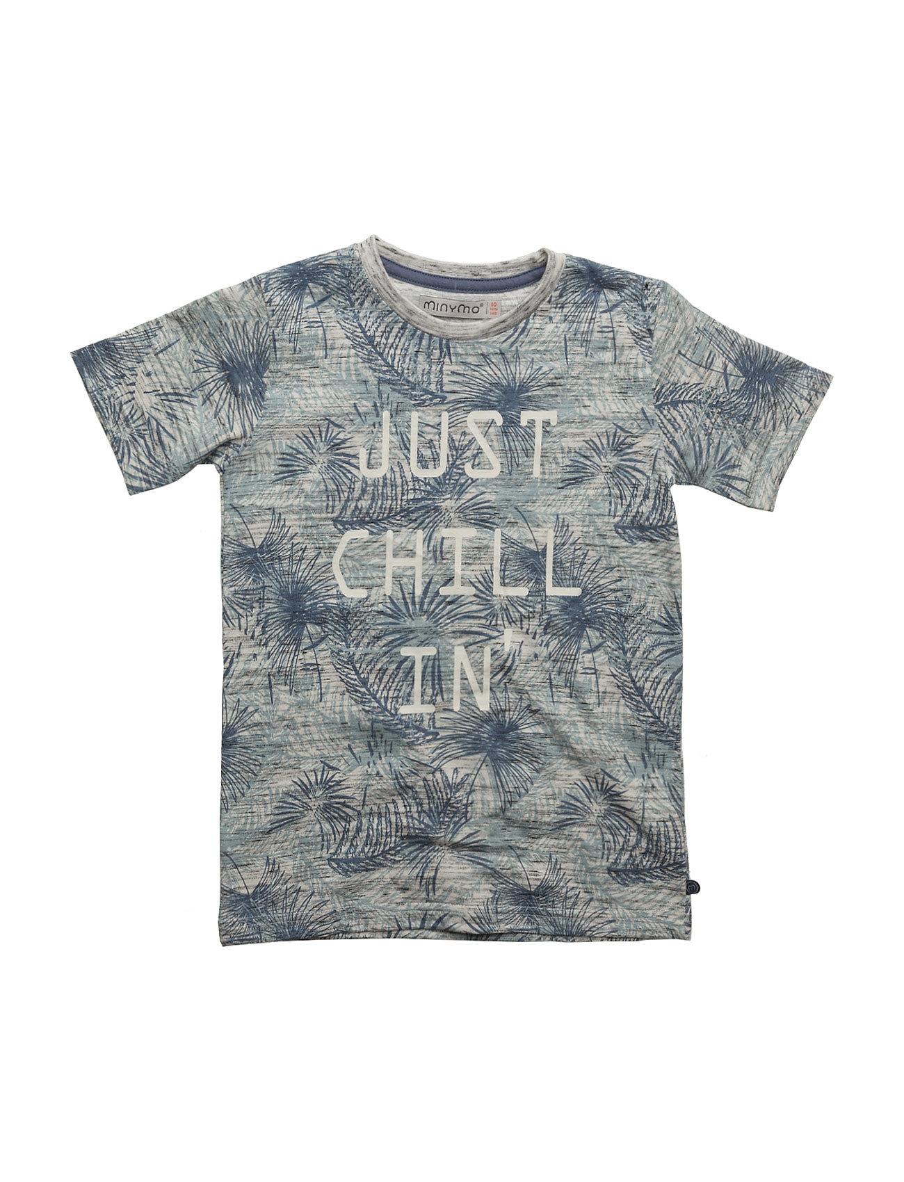 Kirk 70 -T-Shirt Ss W Palm Aop Minymo T-shirts til Drenge i