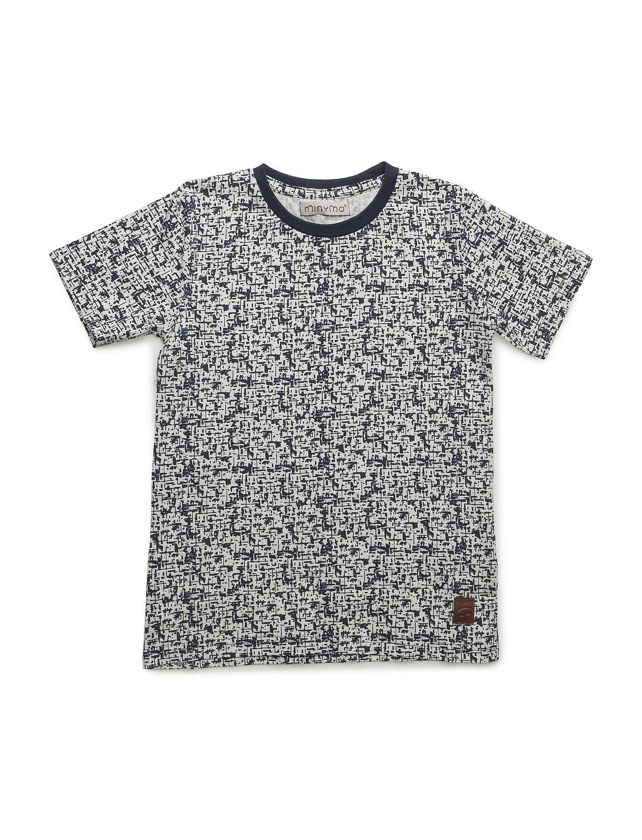 Kirk 79-T-Shirt Ss W.Aop+Badge Minymo Kortærmede t-shirts til Børn i