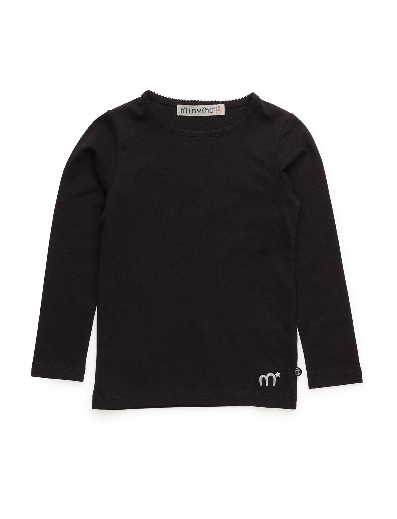 Basic T-Shirt Ls -Solid Minymo T-shirts til Piger i Sort