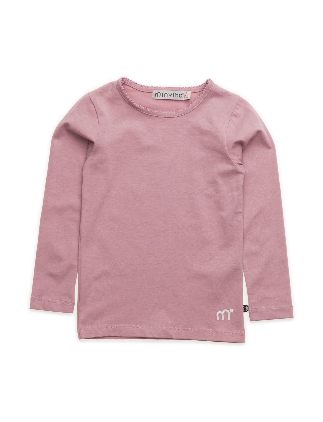 Basic T-Shirt Ls -Solid Minymo Langærmede t-shirts til Børn i Rose