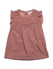 86 - Dress -corduroy - ROSE BROWN