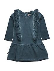 Hope Dress w. flounce - BLUE MIRAGE