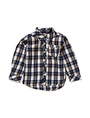Shirt LS with YD check - DARK BLUE