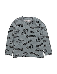 33 - T-shirt LS w. cars - LEAD