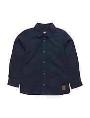 42 - Shirt LS w. badge - DARK NAVY