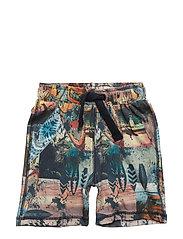 91 - Shorts w. photoprint - DRESS BLUES