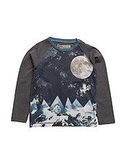 49 - T-shirt LS w/ photo - WARM GREYMELANGE