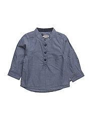 77 -Shirt LS chambray - REAL TEAL
