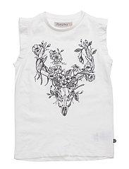 Janie 31 -T-shirt SS w. deer - WHITE