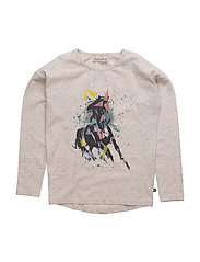 32 -Blouse w. horse - GRAY MORN
