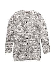 12 - Knit cardigan - WHITE