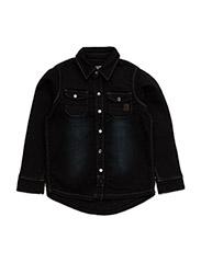 Hubert Shirt knit denim - DEEP BLUE DENIM