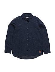 43 - Shirt LS melange - DARK NAVY