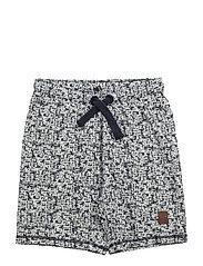 93 - Shorts w.aop+badge - DRESS BLUES