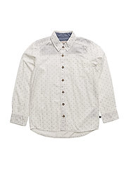 78 -Shirt LS w. AOP - WHITE