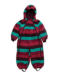 Gam 12 -Snowsuit -striped - GRAPE WINE