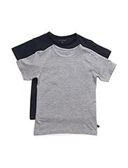 Basic T-shirt SS (2-pack) - DARK NAVY