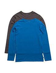 Basic T-shirt LS (2-pack) - DIRECTOIRE BLUE
