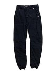 Basic 85 -Pants twill - loose - DARK NAVY