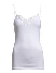 Lace narrow strap Stabel - White
