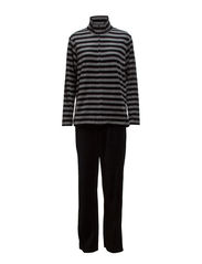 Harriet Homewear - Black / Light grey mlg stripes