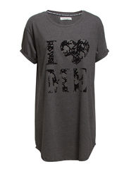 Benedicte Big T-shirt - Dark grey melange