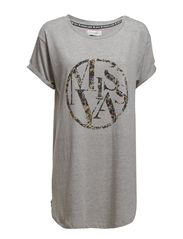 Benedicte Big T-shirt - Light grey melange