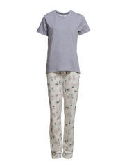 Bellis Pyjamas - Light grey mel/bicycle pri