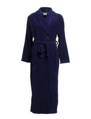 Temple robe fleece long - Dark blue