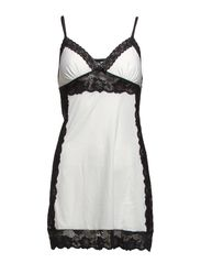 Dafne nightdress - Black / champagne